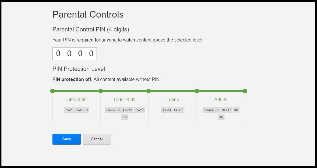 enable parental controls on netflix