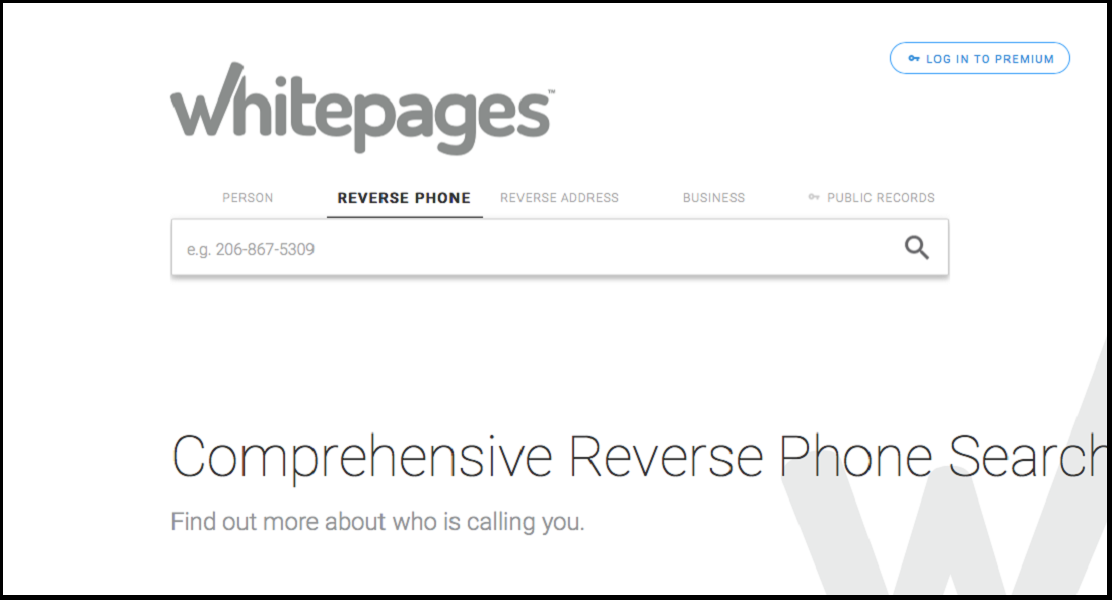 use whitepages as a reverse phone directory