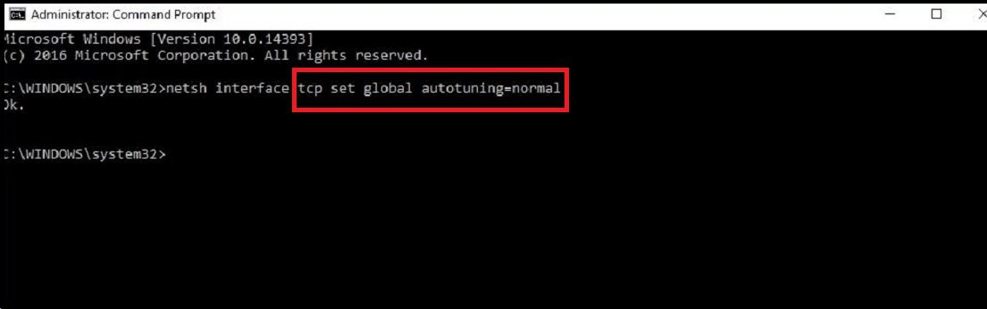 enter the code in the command prompt to set settings back to normal