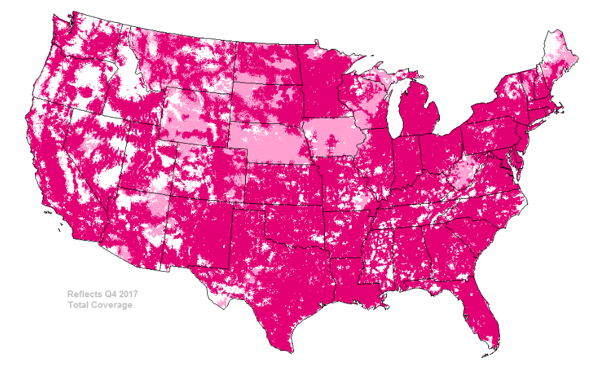 Simple Mobile Coverage - T-Mobile 4G LTE Network Map