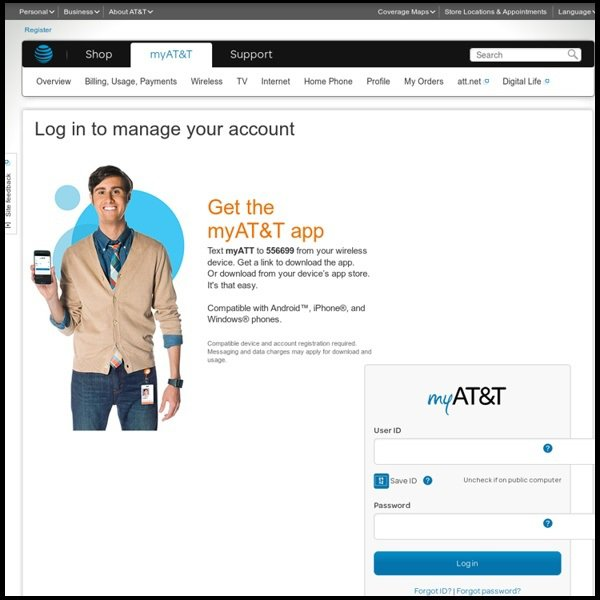 AT&T account management services