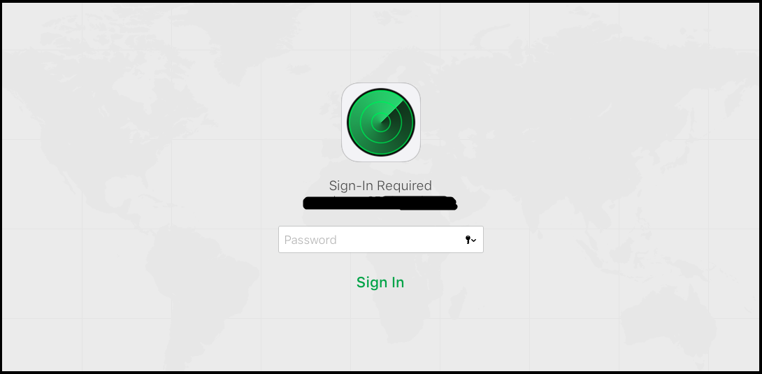 sign into the find my iphone app on icloud