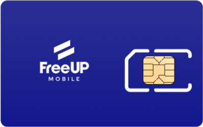FreeUP Mobile SIM Card - Horizontal