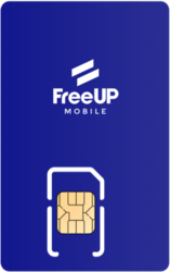 FreeUP Mobile SIM Card - Vertical