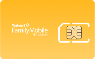 Walmart Family Mobile SIM Card - Horizontal